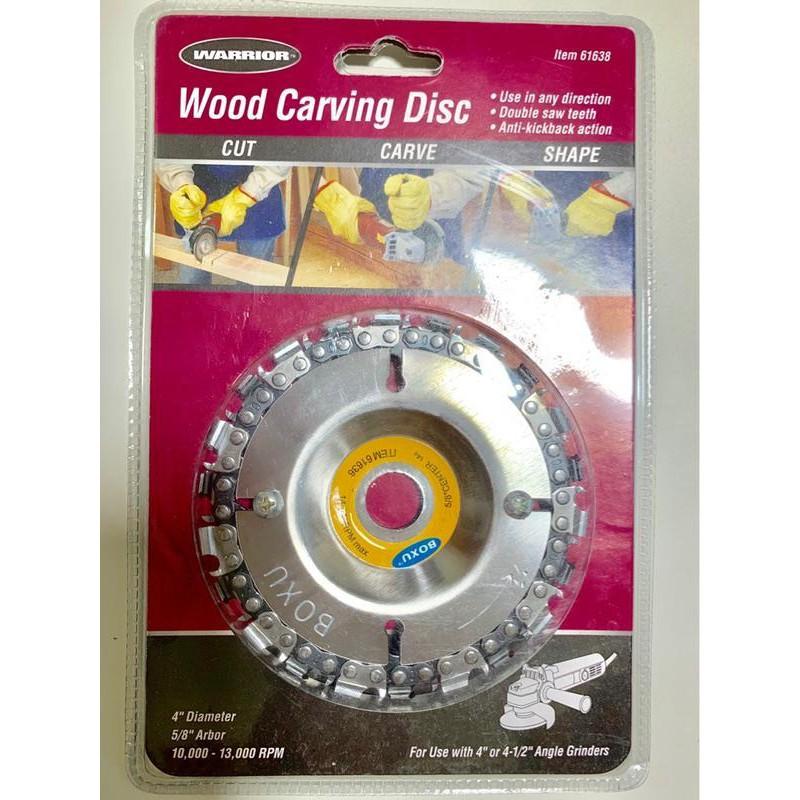 """超低價~鍊鋸條切盤/鏈條盤 砂輪機轉鏈鋸機 4"""" 平面砂輪機用 22齒圓形鏈鋸條 轉鏈條 木工切片砂輪片"""