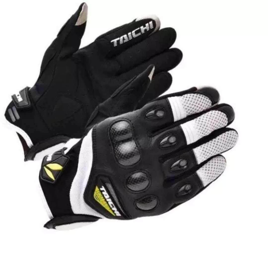 RS TAICHI RST418 Off-road Motorcycle Riding Gloves Touch Screen Indonesian Leather Racing Gloves