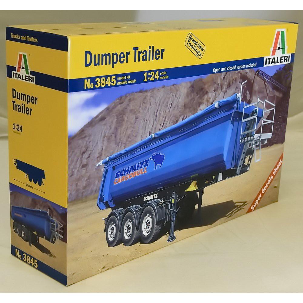 義大利 模型 ITALERI 1:24 1/24 3845 DUMPER TRAILER 槽車 曳引車 貨櫃 全聯結