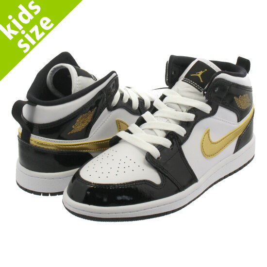 c89cd8e710d NIKE AIR JORDAN 1 MID SE PS耐吉空氣喬丹1中間SE PS BLACK