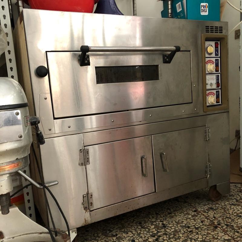 二手職人220V電烤箱一盤入型含下層不繡鋼櫃