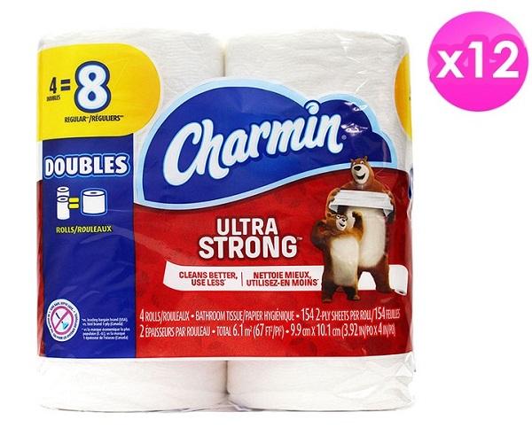 美國【Charmin】超強韌捲筒衛生紙(154張x4捲/串)X12包