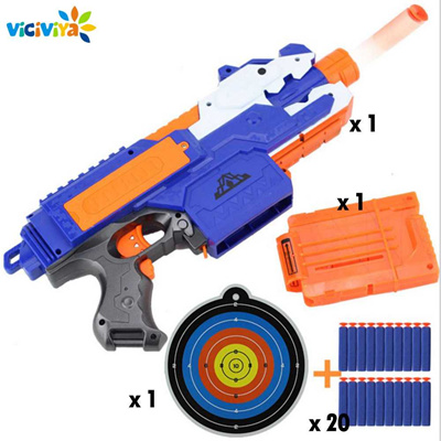 wholesale 2019 Electric Soft Bullet Toy Gun For Children Dart Suit for Nerf Darts Suit for Nerf Gun