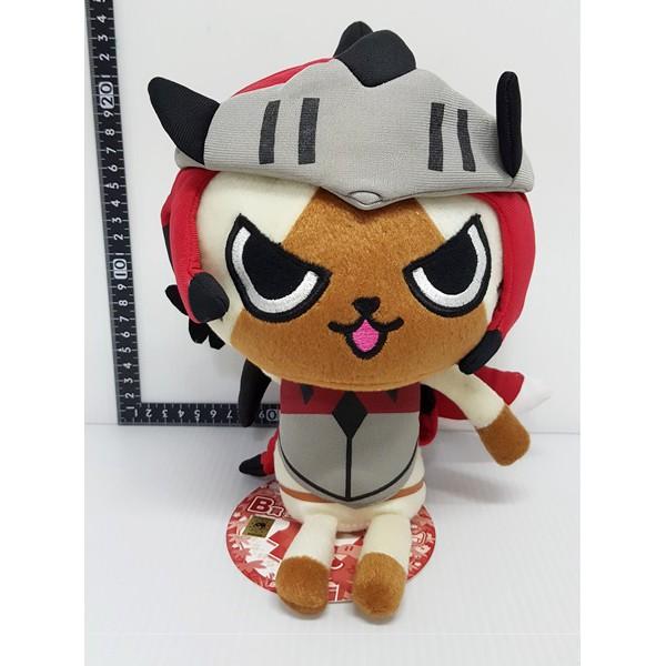 【日本正版】 MONSTER HUNTER 魔物獵人 Airou 艾露貓 火龍裝 RATHALOS 玩偶 絨毛 娃娃