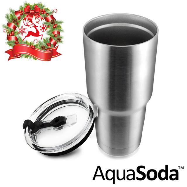 【美國AquaSoda】304不鏽鋼雙層冰霸杯
