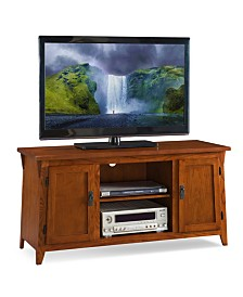 """Leick Home Mission Oak Two Door 50"""" TV Console with open Component Bay"""