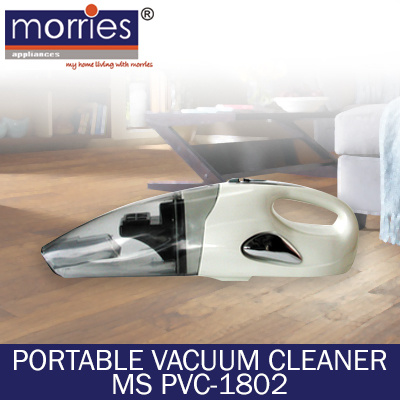 MORRIES - PORTABLE VACUUM CLEANER MS PVC-1802 - ONE YEAR WARRANTY - READY STOCKS AVAILABLE