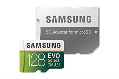Samsung 128GB 100MB/s (U3) MicroSD EVO Select Memory Card with Adapter (MB-ME128GA/AM) (Certified Re