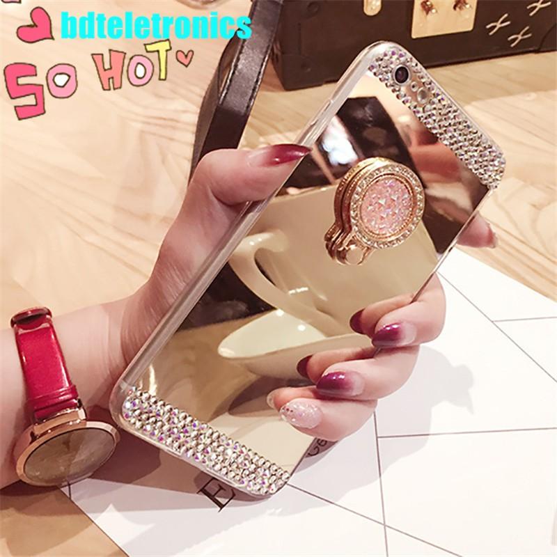 🔆vivo X21 UD Y71 Y69 Y55 Kitty Cat Clear Mirror Soft Plush Ball Case