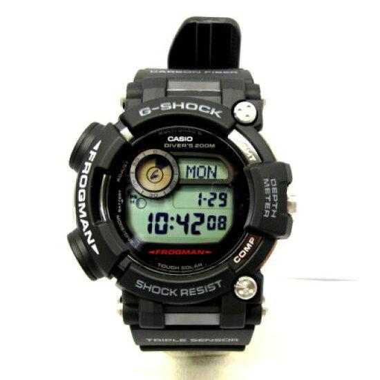 有供G-SHOCK G打擊CASIO卡西歐手錶GWF-D1000-1JF FROGMAN蛙人主人of G黑色數碼的ISO200M潛水使用的防水青蛙三倍感應器強壯的太陽能多頻段6男子的禮物禮物箱子的T東大阪商店224410 RY0692 NEXT51