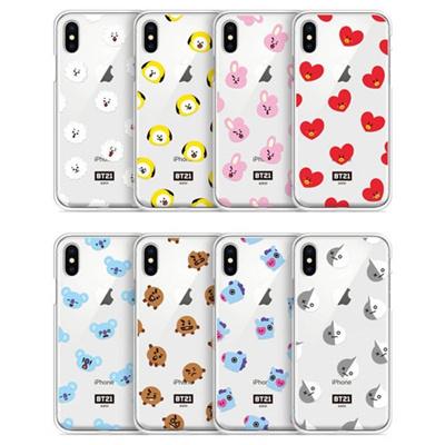 【BT21 OFFICIAL GOODS】 BT21 CLEAR JELLY PHONE CASE/ BT21 CLEAR JELLY iPhone case BT21 PATTERN SERIES