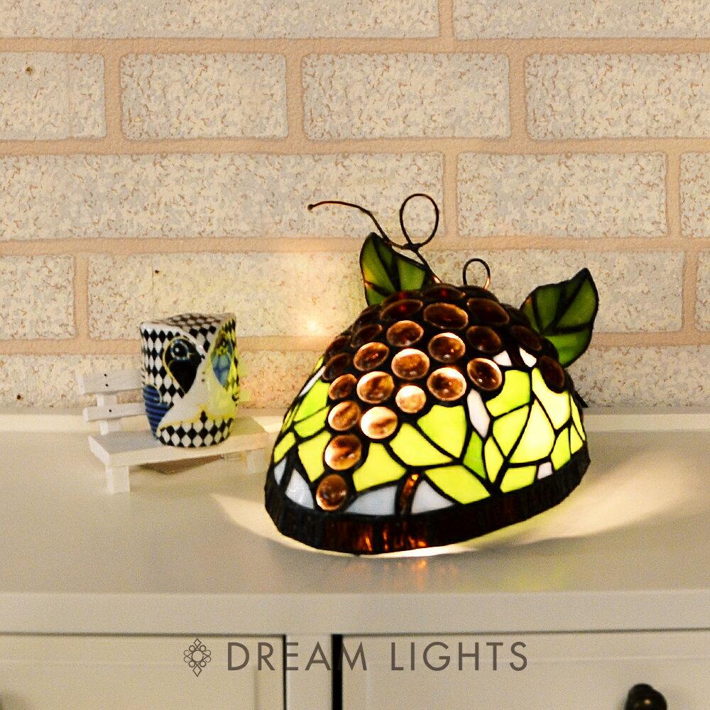 葡萄夜燈|Tiffany蒂芬妮手工彩繪玻璃桌燈