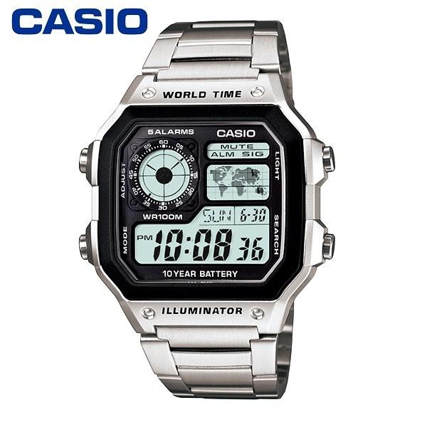 【CASIO】AE-1200WHD-1A 10年電力電子錶款/經典百搭/男女通用款/42mm【第一鐘錶】