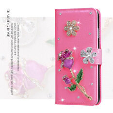 Luxurious Women Handmade Rhinestone Diamond Leather Wallet Flip Cover Case For  Samsung Galaxy A9/A9 pro