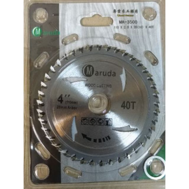 [CK五金小舖] 砂輪機木工鋸片 110 x 2.0 x 40T 手持式砂輪機可裝 圓鋸片
