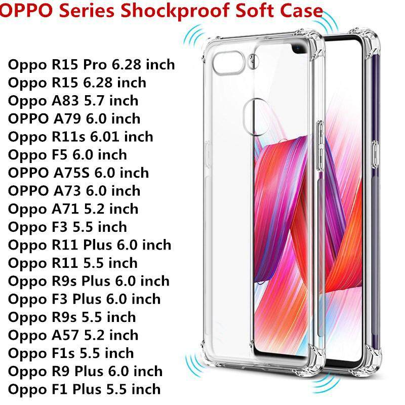 """Transparent Anti-knock Clear Shockproof Soft TPU Case For OPPO R11S Plus 6.43"""""""