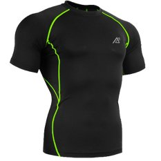 Hopeforth Men's Compression Base Layer Short Sleeves Tshirts Green (Intl)