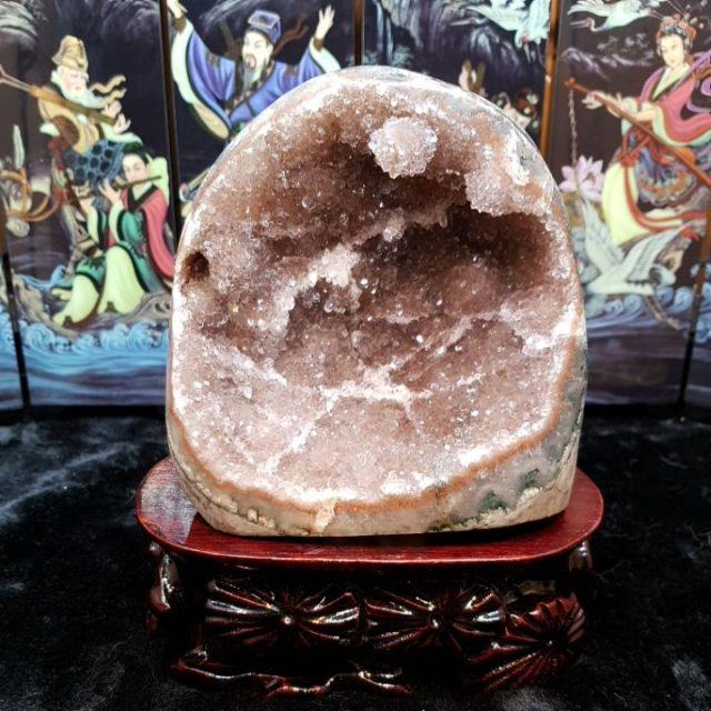 天然烏拉圭 晶鎮 迷你水晶洞 迷你紫水晶洞 水晶 紫水晶 純天然水晶洞 洞中洞