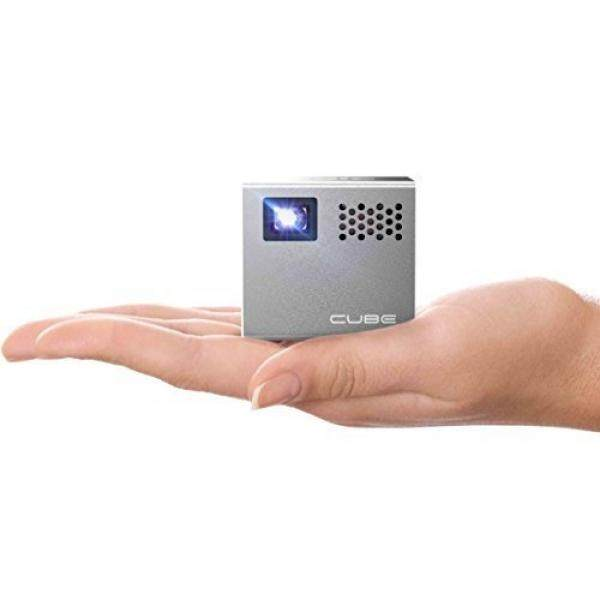 RIF6 CUBE Pico Video Projector with 120 Inch Display - 2 Inch Mobile Portable Mini Projector 20,000 Hour LED Compatible with HDMI Devices Phones Laptops Tablets Gaming Consoles - Includes Mini Tripod