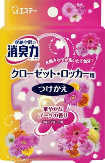 更換S. T收納空間的除异味力壁橱·存物櫃用亞麻布花香32g(4901070121397) Himeji Distribution Center
