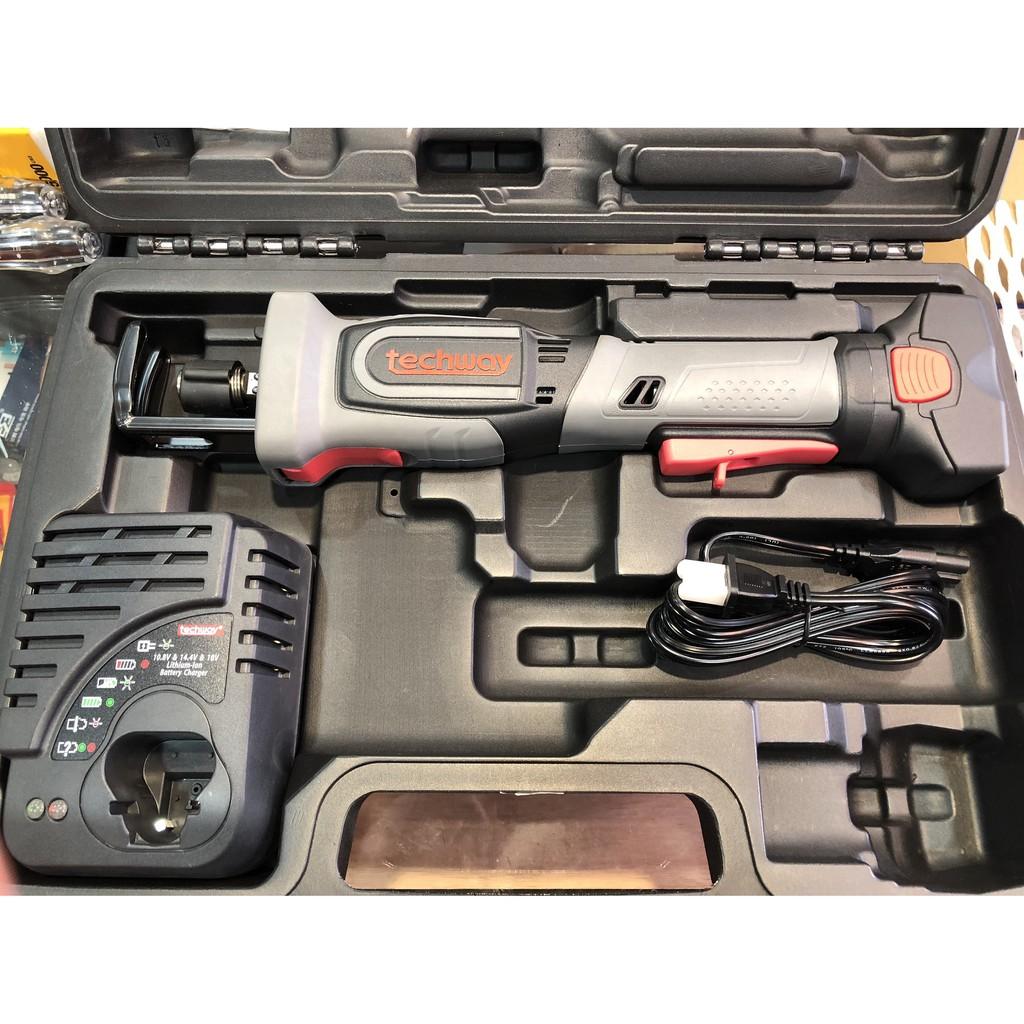 鐵克威Techway 14.4 軍刀鋸 充電式 兩電一充 台灣製造