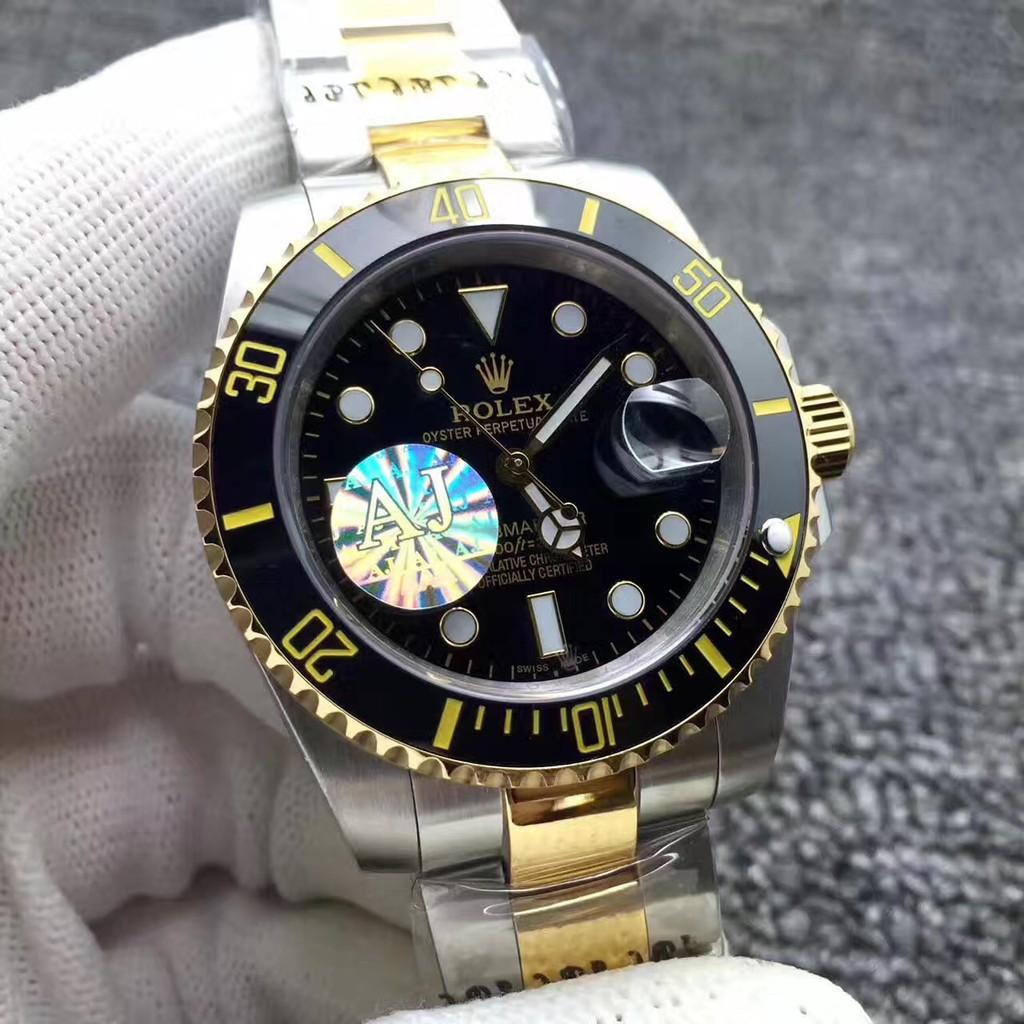 (出貨前可實物/視頻確認!)N廠Rolex 勞力士手錶 半金水鬼腕錶 黑水鬼 金錶勞力士金鬼藍鬼潛航者系列