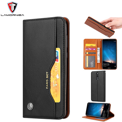 Lamorniea Case For Huawei Mate 10 Lite Wallet Leather Cover Nova 2i/Honor 9i Luxury Shockproof Stand