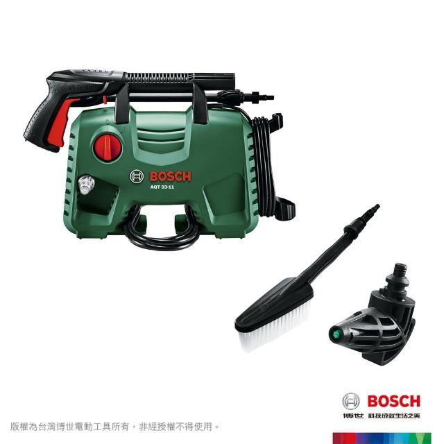 【BOSCH 博世】高壓清洗機 AQT 33-11 + 直角噴頭 + 刷狀噴頭