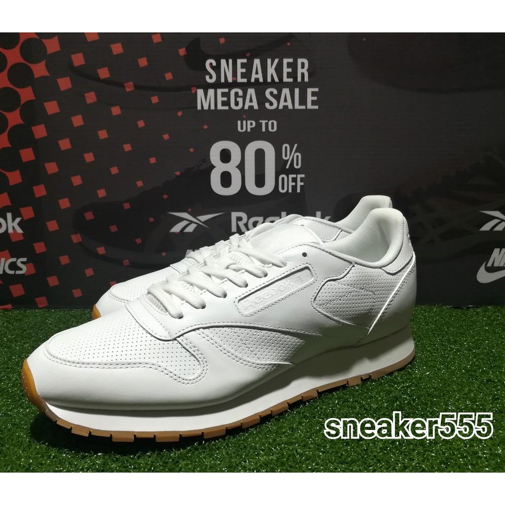 รีบอค รุ่น Cl leather pg รองเท้าลำลอง สำหรับผู้ชาย สีขาว - ฉ Cl leather pgt casual shoes white/carbon/snowy gre