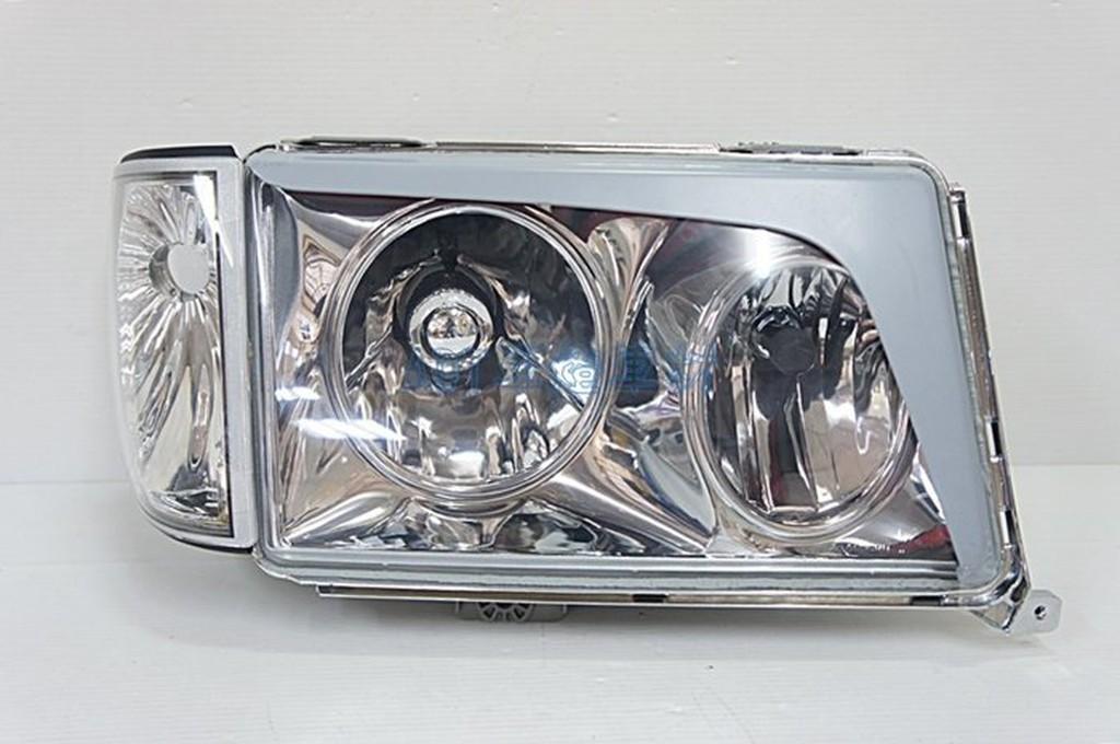 ~~ADT.車燈.車材~~BENZ賓士 W124 85-93 雙圓框晶鑽大燈+角燈一組6500
