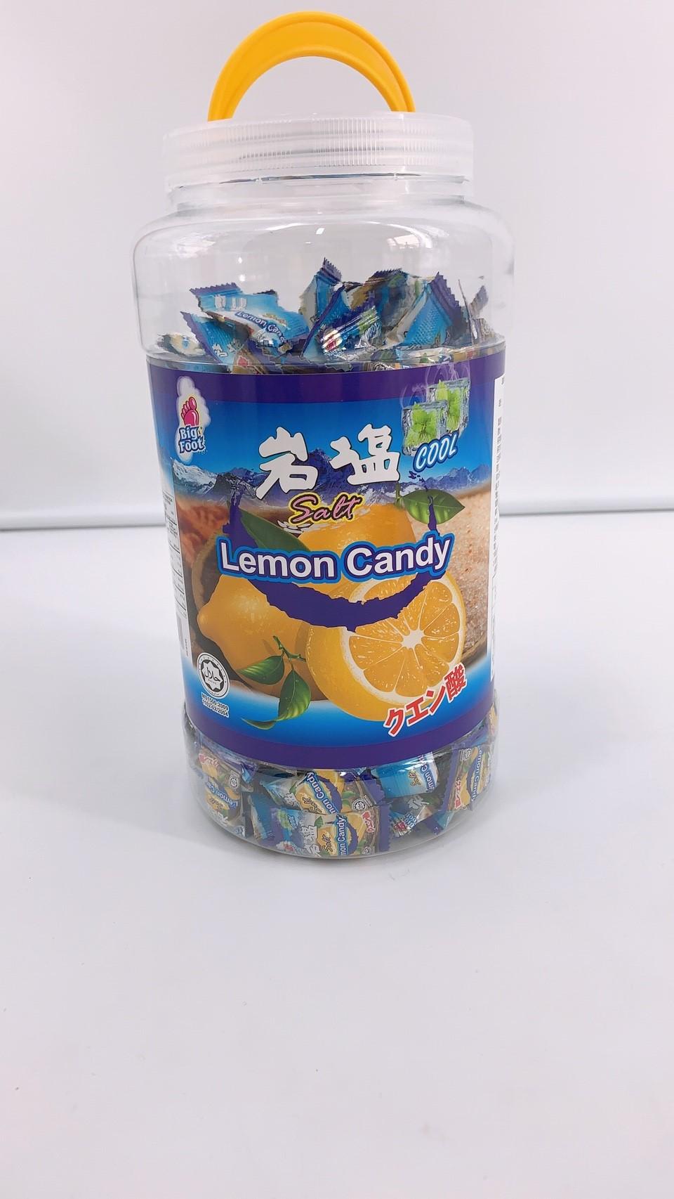 好市多 BF 薄荷岩鹽檸檬糖 桶裝 糖果 900克 香甜 微涼 提神 超取限四罐
