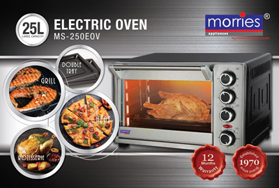 MORRIES 25L ELECTRIC OVEN MS250EOV 25L (Rotisserie and convection function)