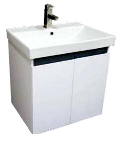 《營鏹衛浴》洗臉盆+浴櫃(吊櫃)+水龍頭+全部配件 寬60x深47x高62cm 100%防水PVC發泡板