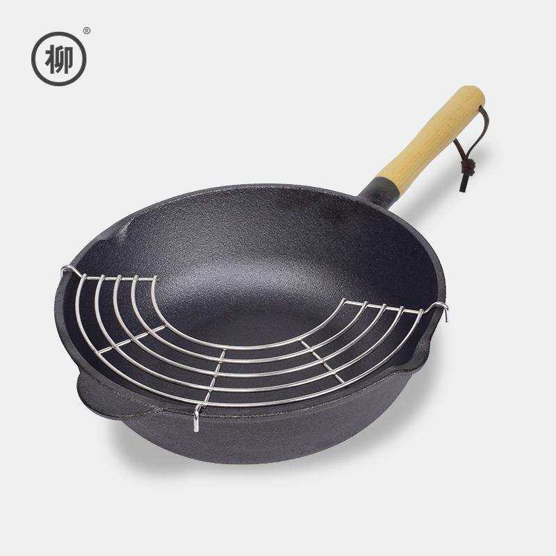 Willow of small wok cast-iron