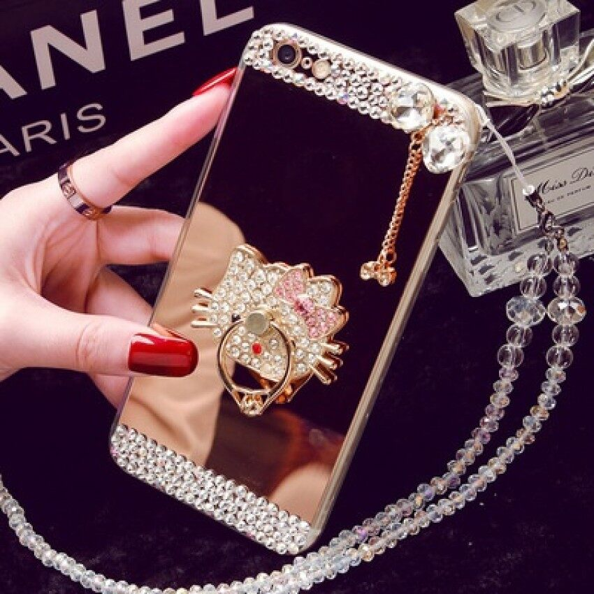 Oppo R9S Phone Case R11 A59 Mirror Tpu Diamond R9plus CreativeProtective Cover A39 R7SA57 (Color: Bow Stent / Size: Oppo R11) - intl