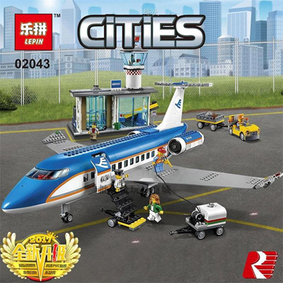 lepin 02043 City Series Airport Terminal Building Block Brick Toy (lego 60104 ) toy
