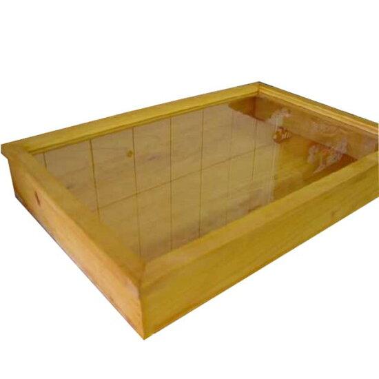 摘配飾情况木製檜木天然的透明的玻璃收集情况(60*40*9厘米)陳列櫃,做定做1134626 Angels Dust
