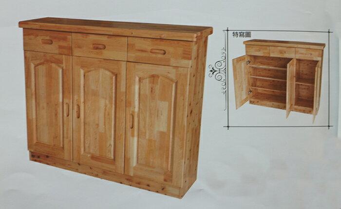 【尚品傢俱】JJ-9505 4尺香檜全實木鞋櫃