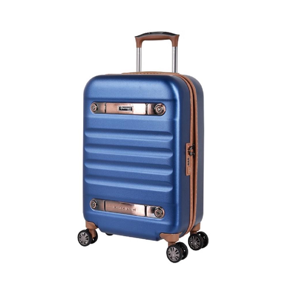 eminent 【時光旅者】防爆拉鍊飛機輪全PC行李箱 20吋<靛星藍>KG38