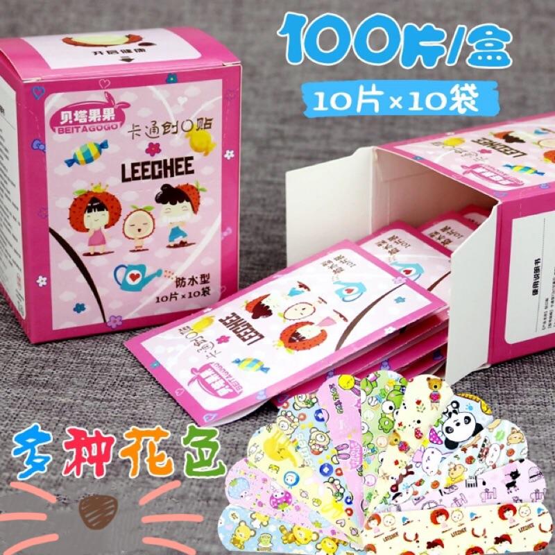 《現貨》創口貼  韓國兒童迷你透氣防水創口貼  OK繃 止血貼  卡通創口貼 可愛創口貼