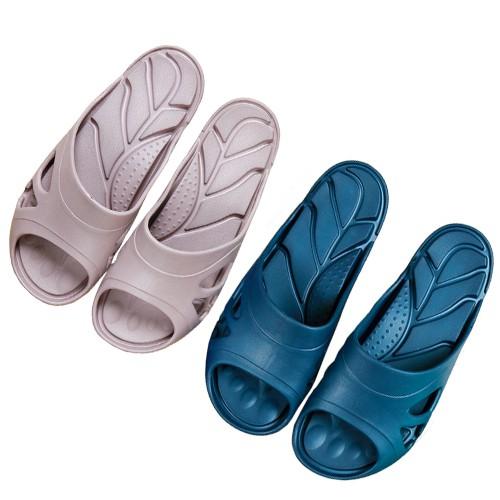 【足弓拖鞋】減壓.輕量透氣室內拖鞋-藍、灰/台灣製造/足弓拖鞋 /運動拖鞋/防水拖鞋/涼鞋