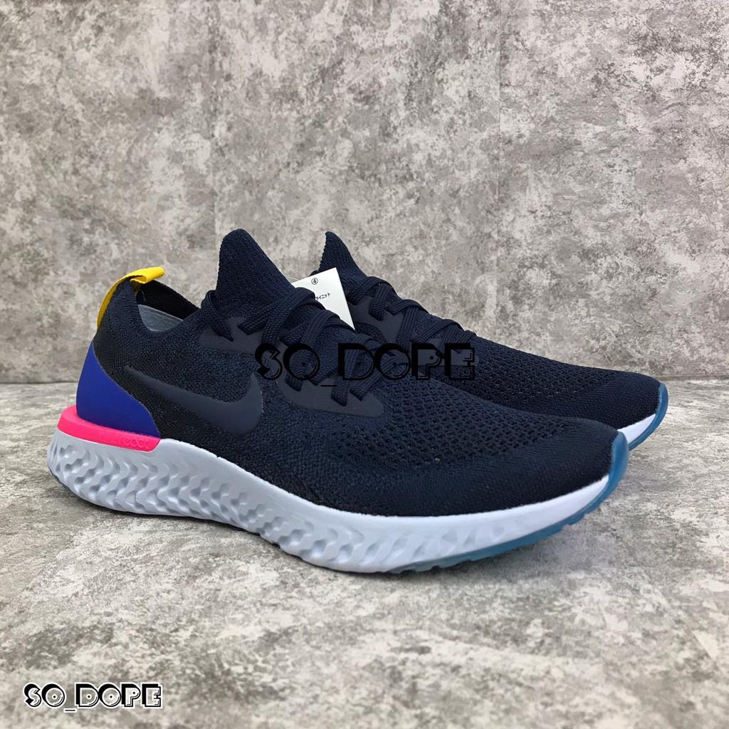 【So-Dope】NIKE FLYKNIT REACT OG 深藍 粉 女鞋 AQ0067-400