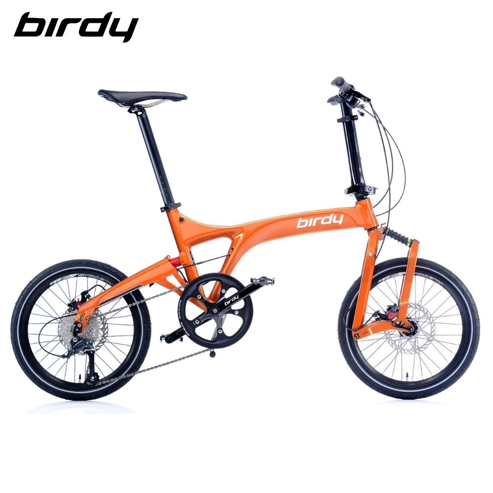 Birdy New BirdyⅢ Standard 9速18吋前後避震縱向折疊車-閃耀橘