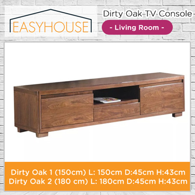 Dirty Oak TV Console | Living Room | Wood with High Lamination Finishing