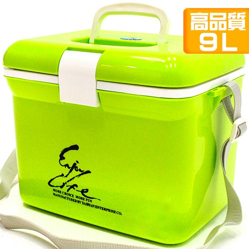 台灣製造9L冰桶9公升冰桶行動冰箱.攜帶式冰桶釣魚冰桶保冰桶冰筒保冷桶保冰箱保冷箱保溫桶保溫箱保冰袋P062-095