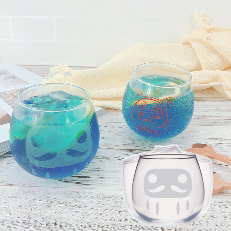 日本空運|日本達摩不倒翁玻璃酒杯 限量達摩犬酒杯|2款|日本限量|日本製|福神 搖擺杯 玻璃杯具 酒杯 紅酒杯 威士忌杯|上發條直播推薦|部落客推薦|現貨