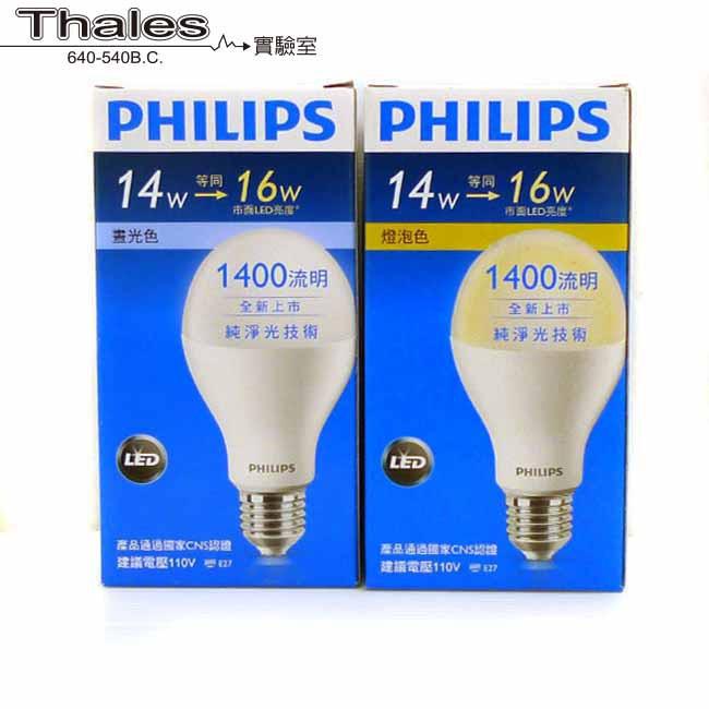【泰利斯】PHILIPS LED燈泡 6.5W 8.5W 11W 14W (白光/黃光)