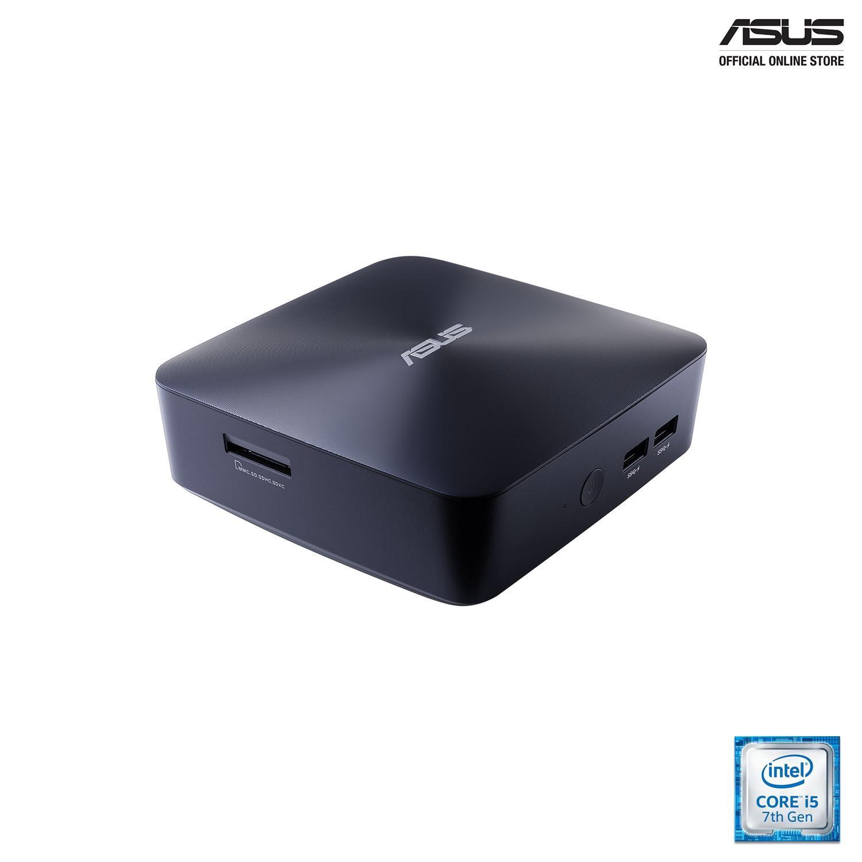 ASUS VivoMini UN65U (UN65U-M275Z) Quiet mini PC with Intel Core i5 processor, Windows 10, DDR4 RAM, 4K UHD support, dual storage with one M.2 SSD or 2.5-inch SSD/HDD, and 802.11ac Wi-Fi.