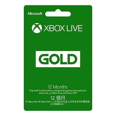 Microsoft XBOX ONE 金會員訂閱卡 12個月