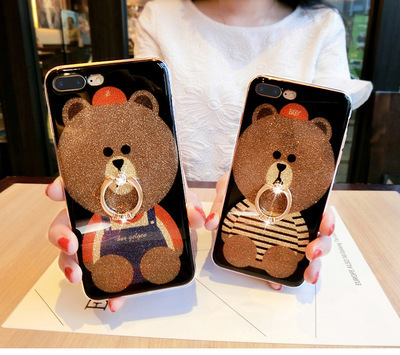 Oppo R11 R11s Plus R11 Plus R11S Cute Bear Glitter Case  23683